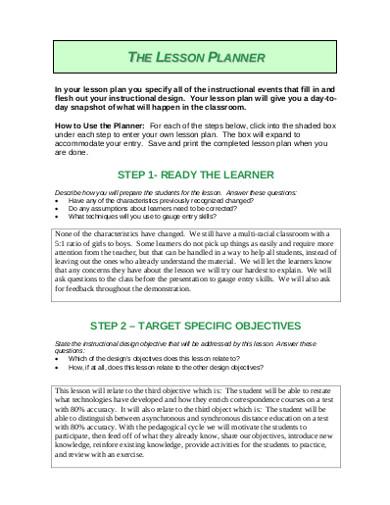 lesson planner in pdf