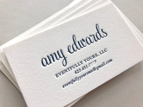 letterpress event business cards