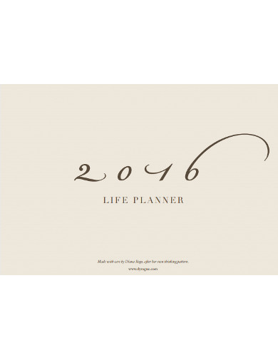 life planner example