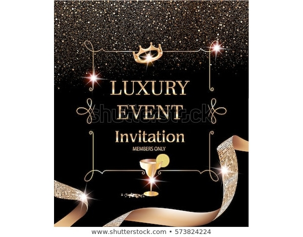 luxury event invitation