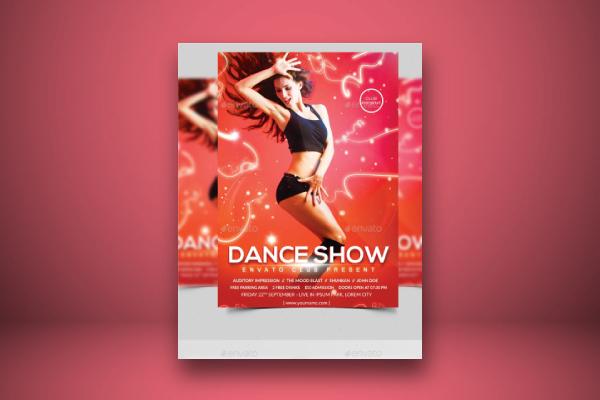 magnificent dance audition flyer