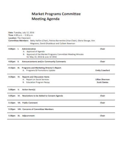 market programs committee agenda in pdf