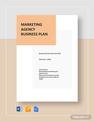 marketing agency business plan template