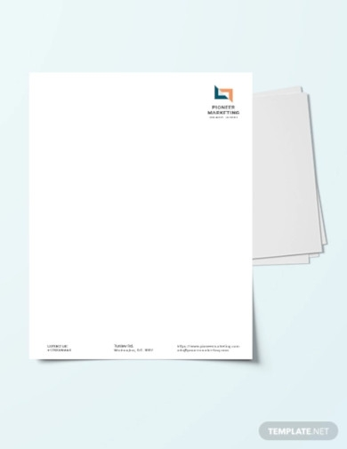 marketing agency letter head template1
