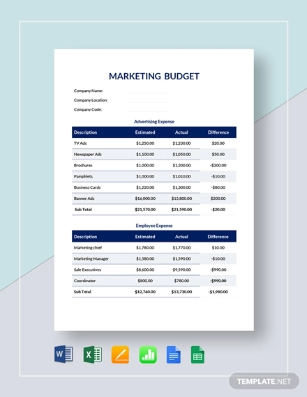 marketing budget template1