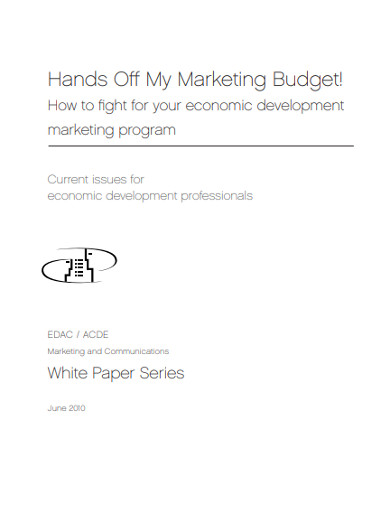 marketing budget in pdf