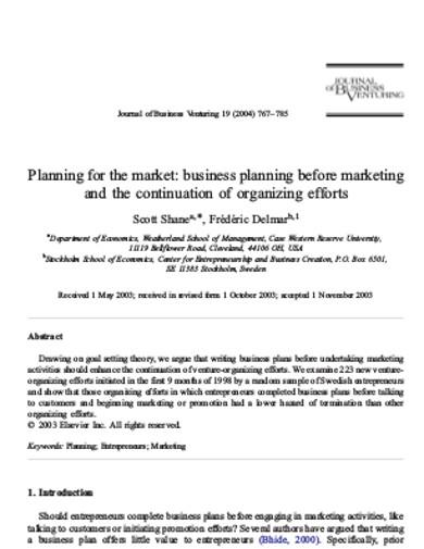 marketing business planning