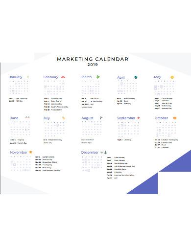 marketing calendar in pdf