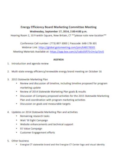 marketing committee final agenda
