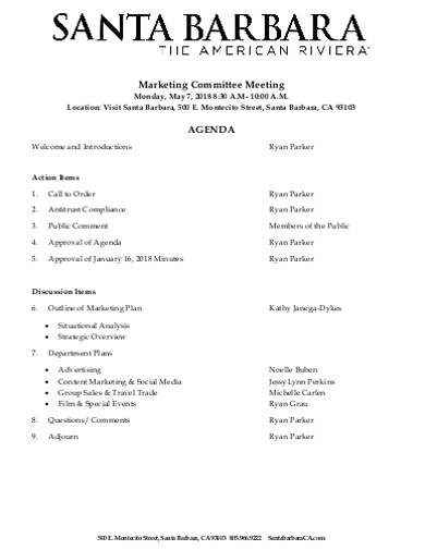 marketing committee meeting agenda in pdf