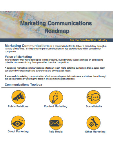 marketing communications roadmap