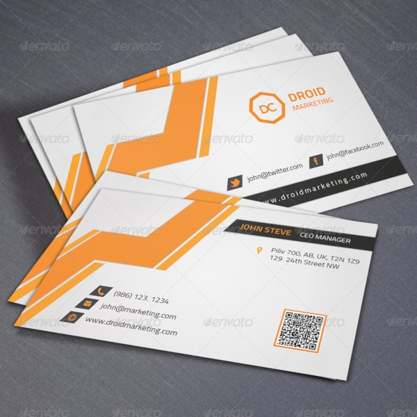 marketing corporate business card
