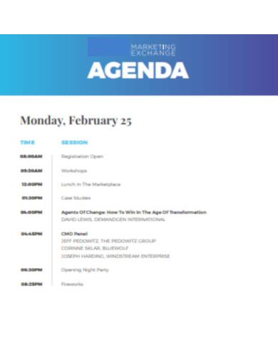 marketing exchange agenda