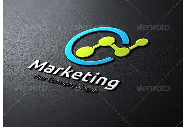 marketing logo simple