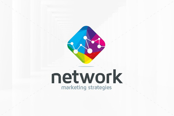 marketing network logo template
