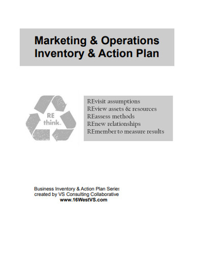 marketing operations inventory action plan