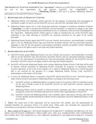 marketing partner agreement