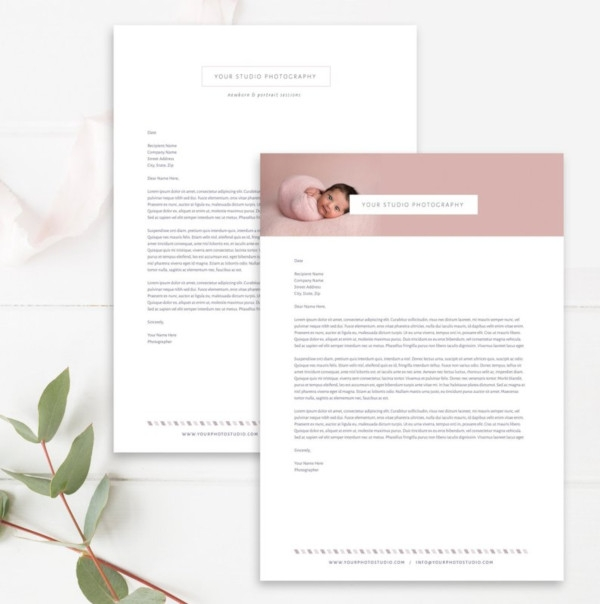 marketing photographer letterhead