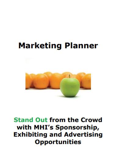marketing planner sample