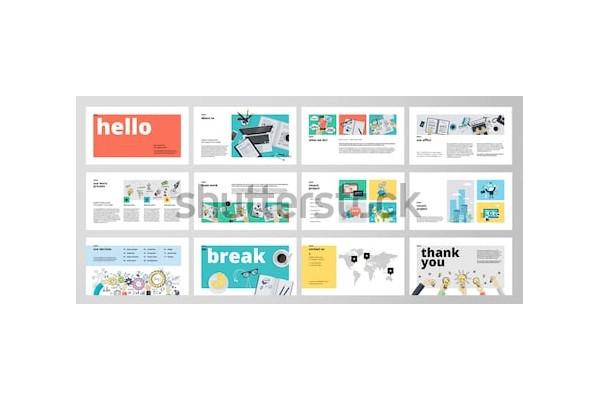 marketing presentation in psd