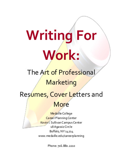 marketing resumes cover letters