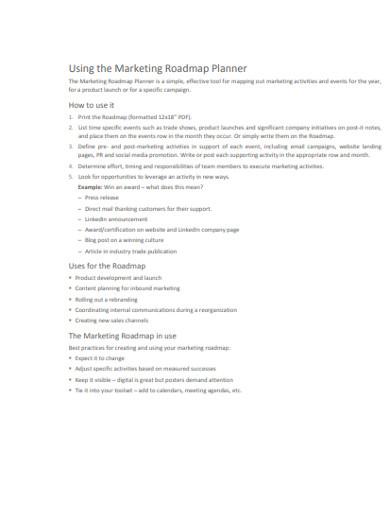 marketing roadmap planner