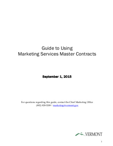 marketing services master contracts