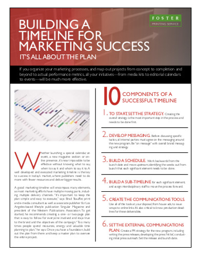 marketing success timeline
