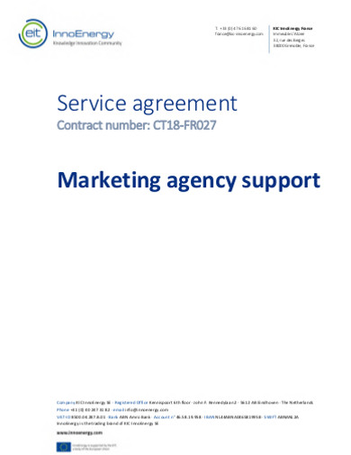 marketing agency support services agreement