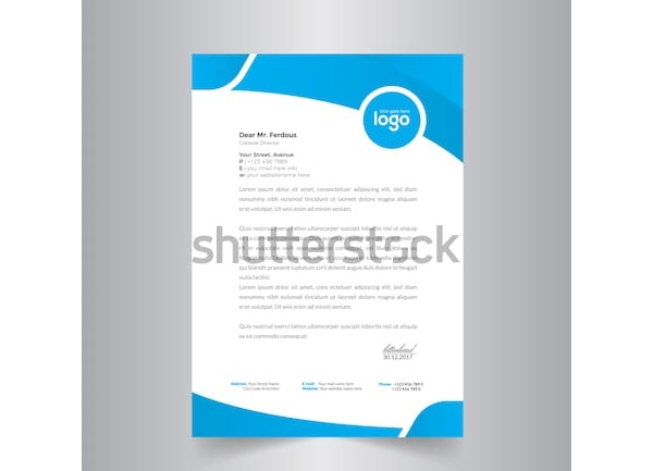 marketing letterhead design