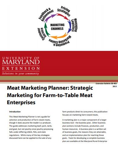 meat marketing planner