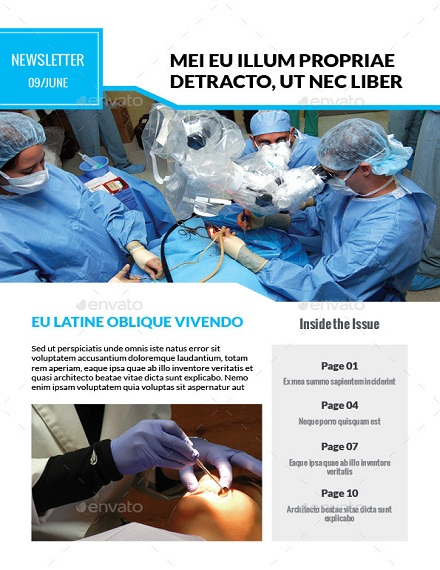 medical multi purpose newsletter