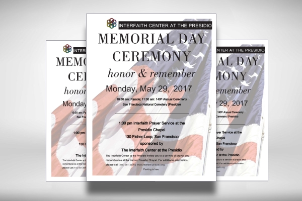 memorial day ceremony invitation