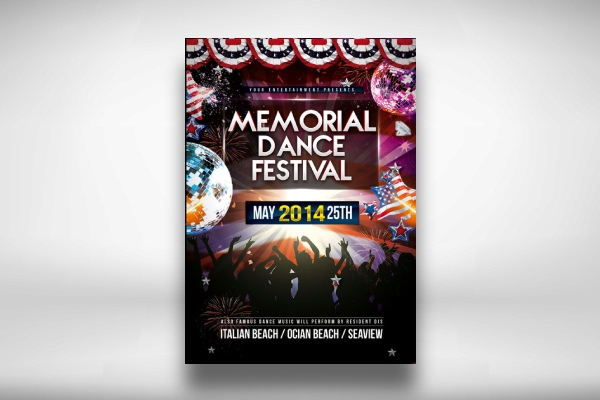 memorial day dance festival flyer