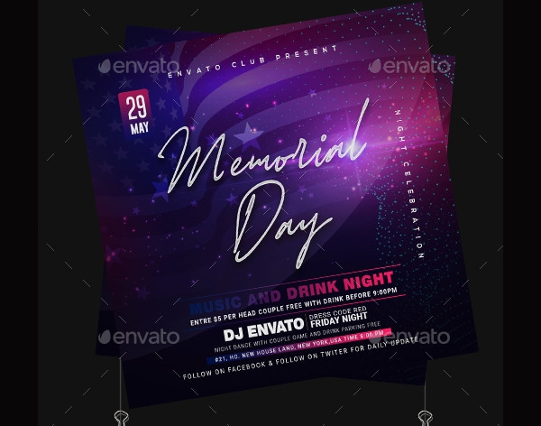 memorial day event flyer