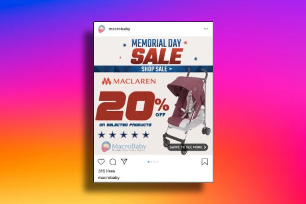memorial day instagram post example