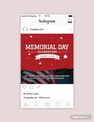 memorial day instagram post