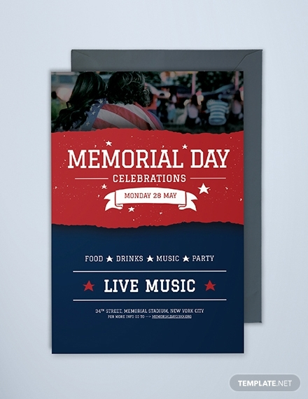 memorial day invitation template