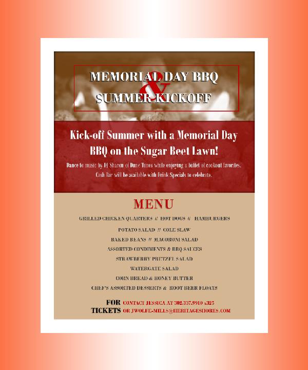 memorial day lawn bbq menu