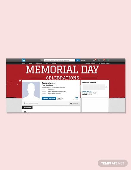 memorial day linkedin profile banner