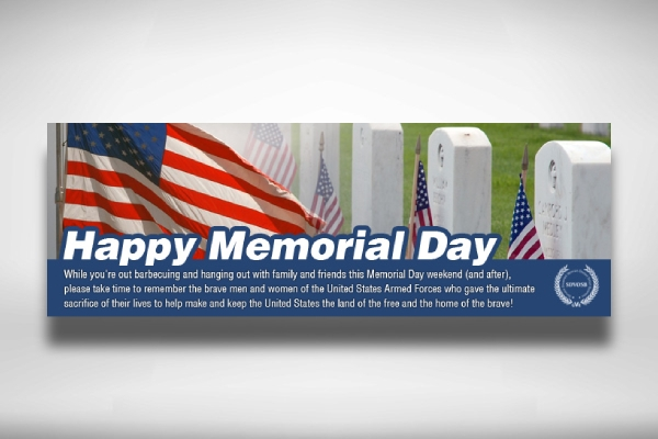 memorial day message banner