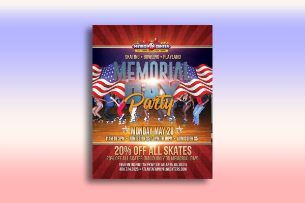 memorial day party poster
