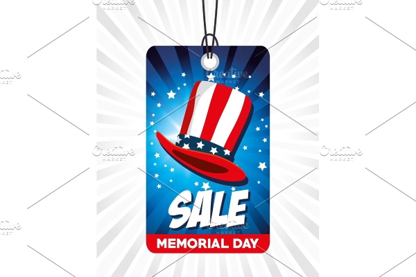 memorial day sale tag label