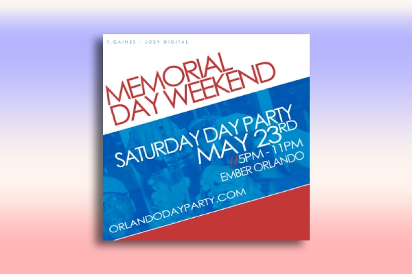 memorial day saturday party poster