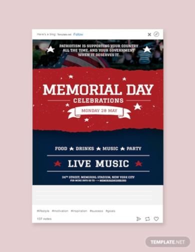 memorial day tumblr post