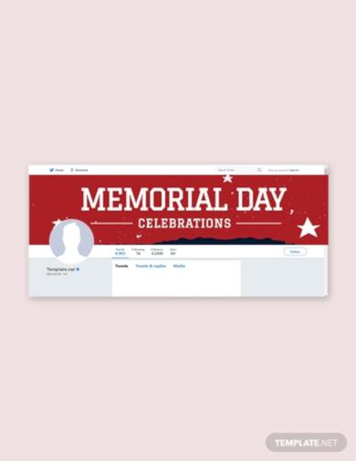 memorial day twitter header cover