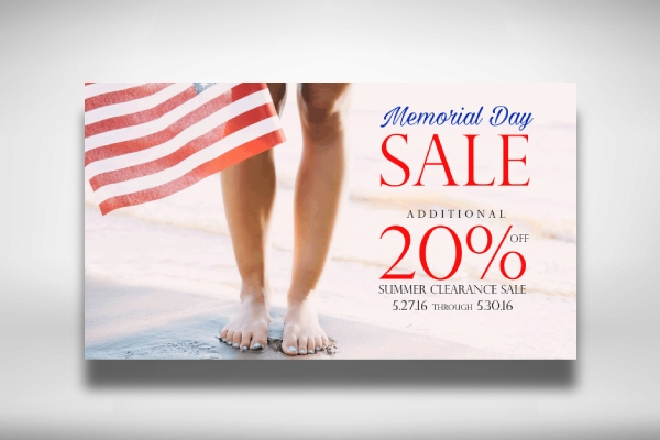 memorial day website banner