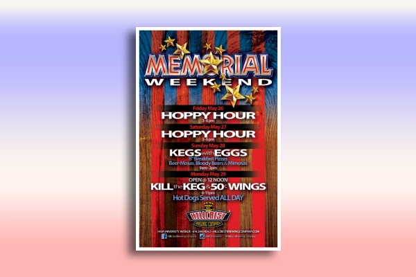 memorial day weekend event poster