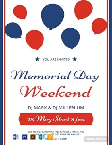 memorial day weekend flyer