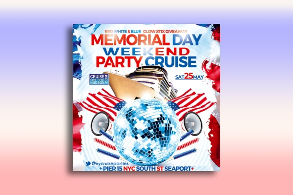 memorial day weekend party cruise poster